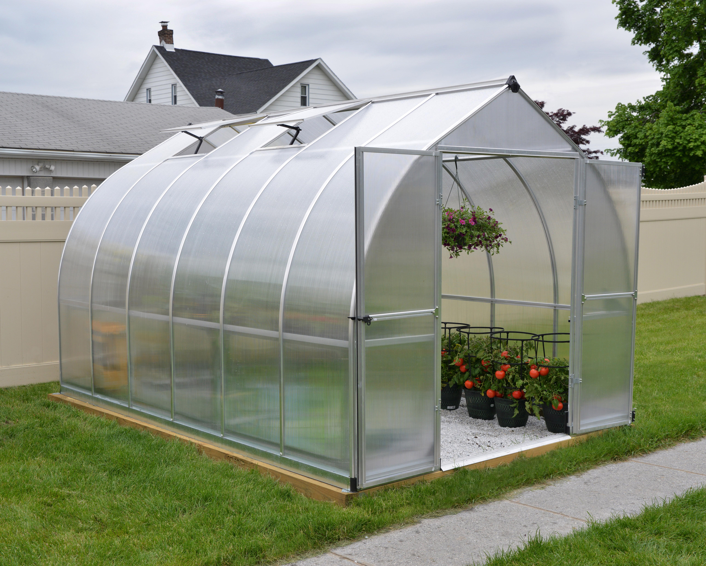 Bella 8' x 12' Hobby Greenhouse - Silver 763552428127